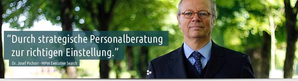 Foto von Dr. Josef Pschorr - MPW Executive Search, die Personalberater für die Getränkeindustrie